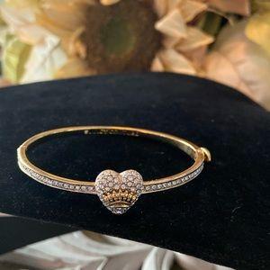Juicy Couture Rhinestone Heart Bangle Bracelet